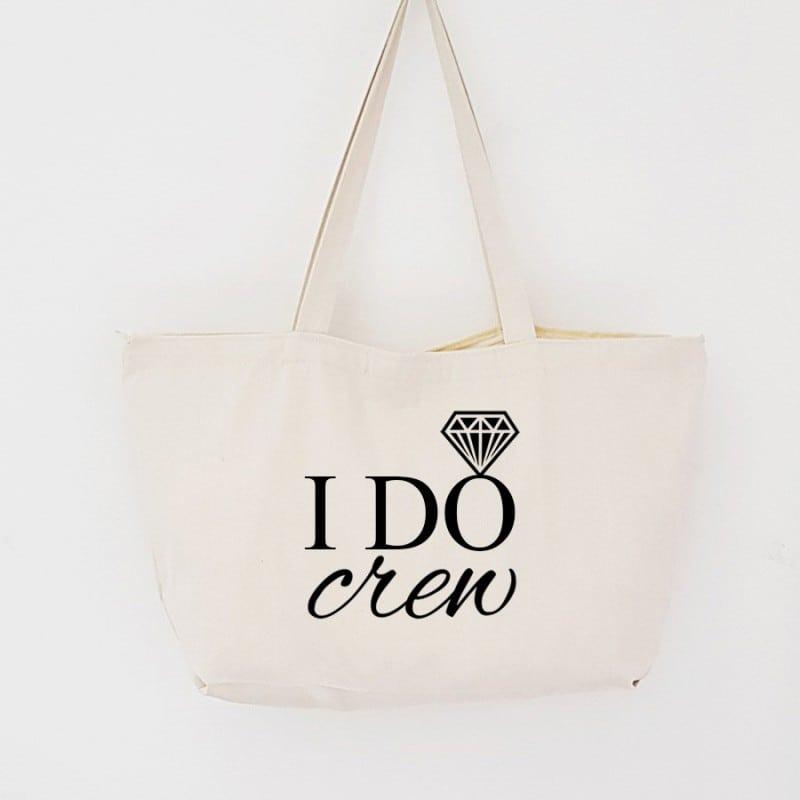 """I Do Crew"" Τσάντα για τις φίλες με φερμουάρ"