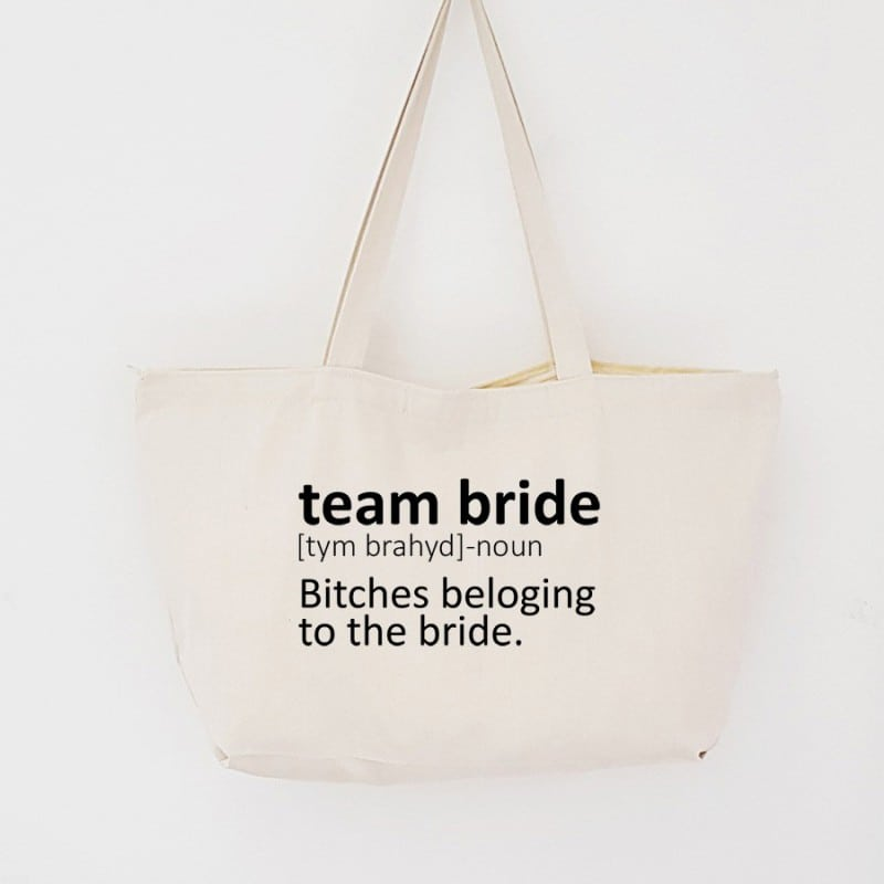 """Dictionary"" Τσάντα για τις φίλες με φερμουάρ"