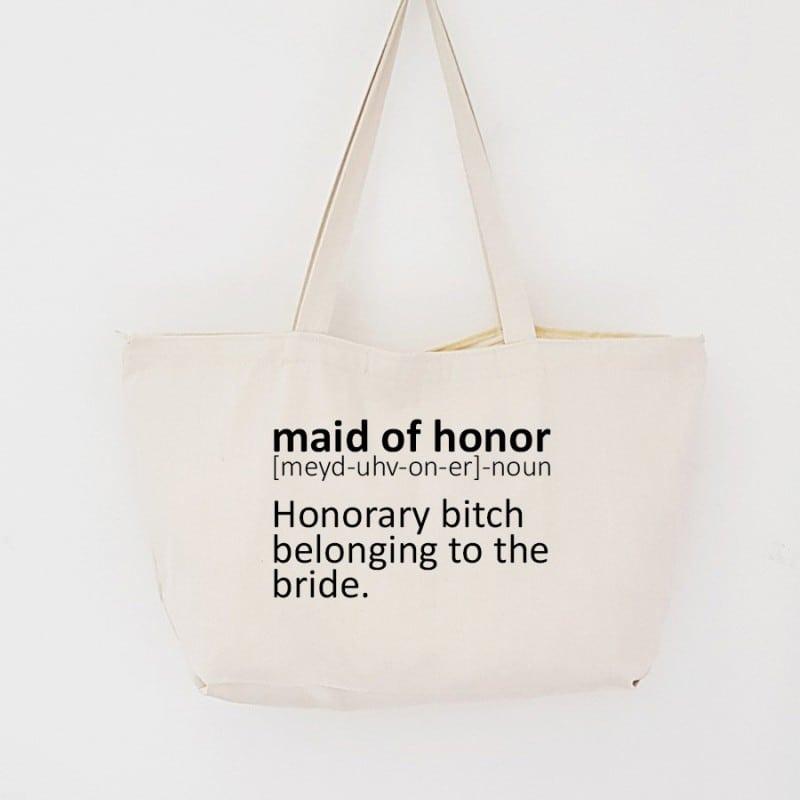 """Dictionary"" Τσάντα κουμπάρας με φερμουάρ"