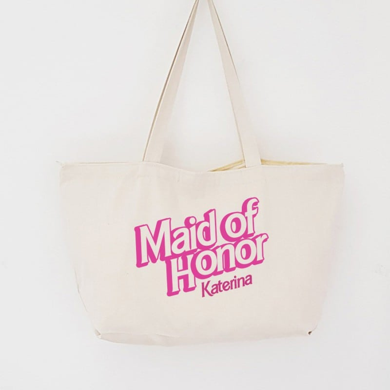 """Barbie"" Τσάντα κουμπάρας με φερμουάρ"