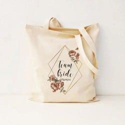 """Diamond Floral"" Bachelorette τσάντα για τις φίλες"