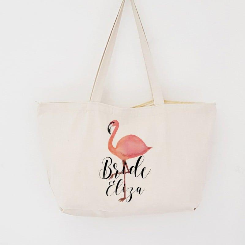 """Flamingo"" Τσάντα νύφης με φερμουάρ"