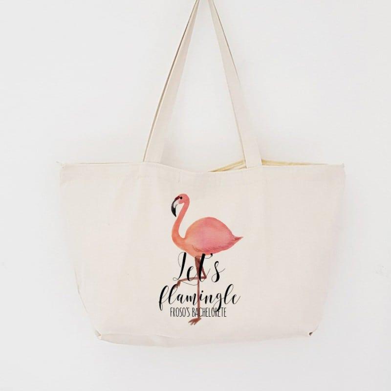 """Flamingo"" Τσάντα για τις φίλες με φερμουάρ"
