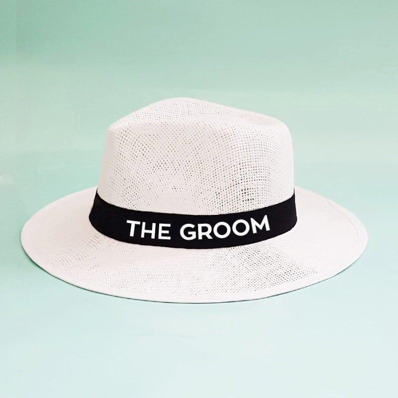 Λευκό τύπου panama The Groom