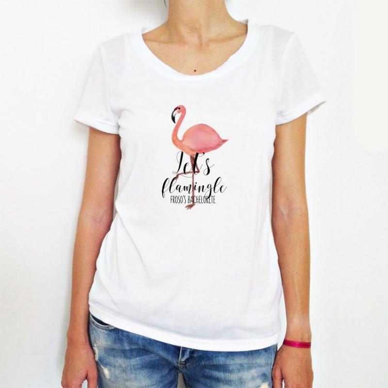"""Flamingo"" Tshirt για τις Φίλες της Νύφης"