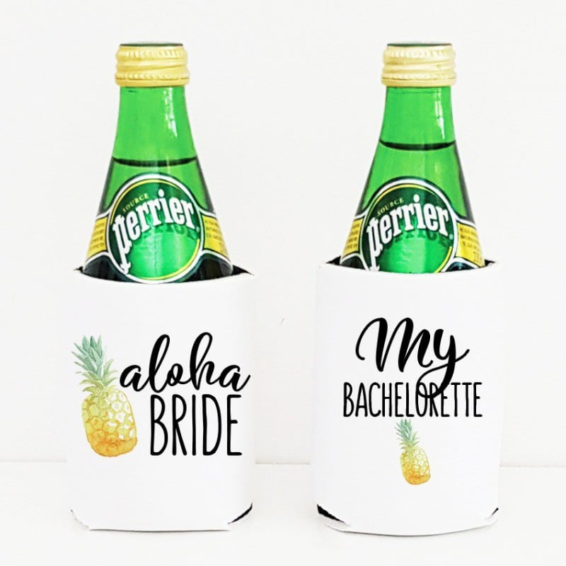 """Pineapple"" Bachelorette cooler sleeve"