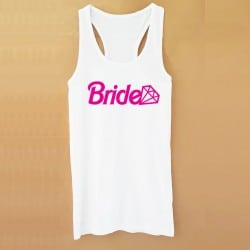 """""""Barbie Bride"""" Λευκό τιραντάκι για τη νύφη"""