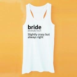Dictionary λευκό τιραντάκι για τη νύφη