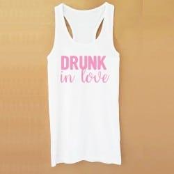 """""""Drunk in Love"""" Λευκό τιραντάκι για τη νύφη"""