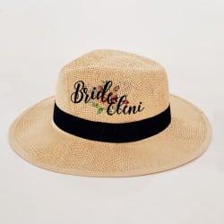 """Floral"" Panama καπέλο νύφης"
