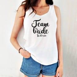 """Team Bride Amore"" λευκό..."