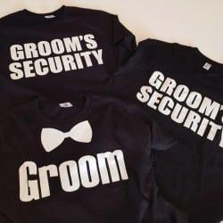 """Bowtie Groom"" μαύρο tshirt..."