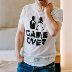 """""""Game Over"""" λευκό bachelor..."""