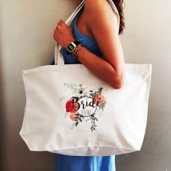 """""""Round Floral"""" Τσάντα νύφης..."""