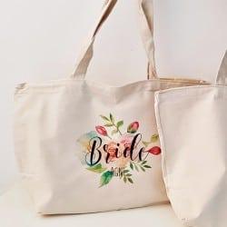 """""""Floral"""" Τσάντα νύφης με..."""