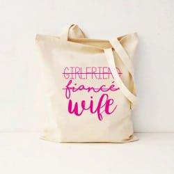 """""""Girlfriend-Wife"""" Τσάντα νύφης"""