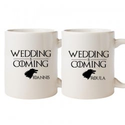 """Wedding is Coming"" Σετ Κούπες"