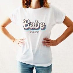 """""""Rainbow Babe"""" Λευκό tshirt..."""