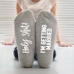 """Holy Shit"" Κάλτσες Νύφης"
