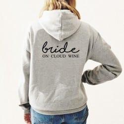 """Cloud Wine"" Φούτερ νύφης..."