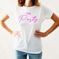 """The party"" Λευκό tshirt..."