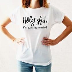 """""""Holy Shit"""" λευκό tshirt..."""
