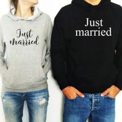 """""""Just Married"""" Set φούτερ"""