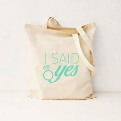 """I Said Yes"" Τσάντα νύφης"