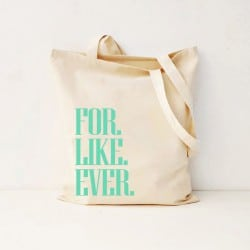 """For.Like.Ever"" canvas τσάντα"