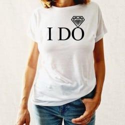"""I DO"" λευκό tshirt για τη..."