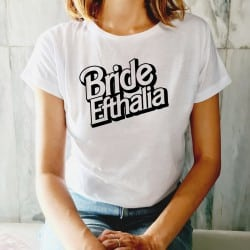 """Barbie Fancy"" λευκό tshirt..."
