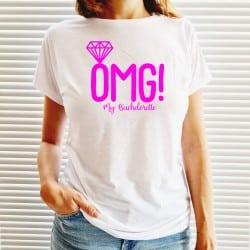 """""""OMG"""" λευκό tshirt για τη νύφη"""