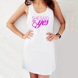 """She said yes"" φόρεμα..."