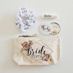 """Diamond Floral Beauty Bag""..."