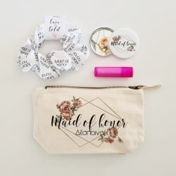 """Diamond Floral Beauty Bag""..."