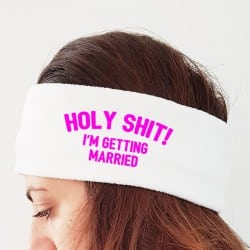 """Holy Shit"" Φλις κορδέλα νύφης"