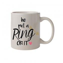 """Κούπα νύφης """"He put a ring on it"""""""