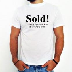 """Sold"" Tshirt για το Γαμπρό"