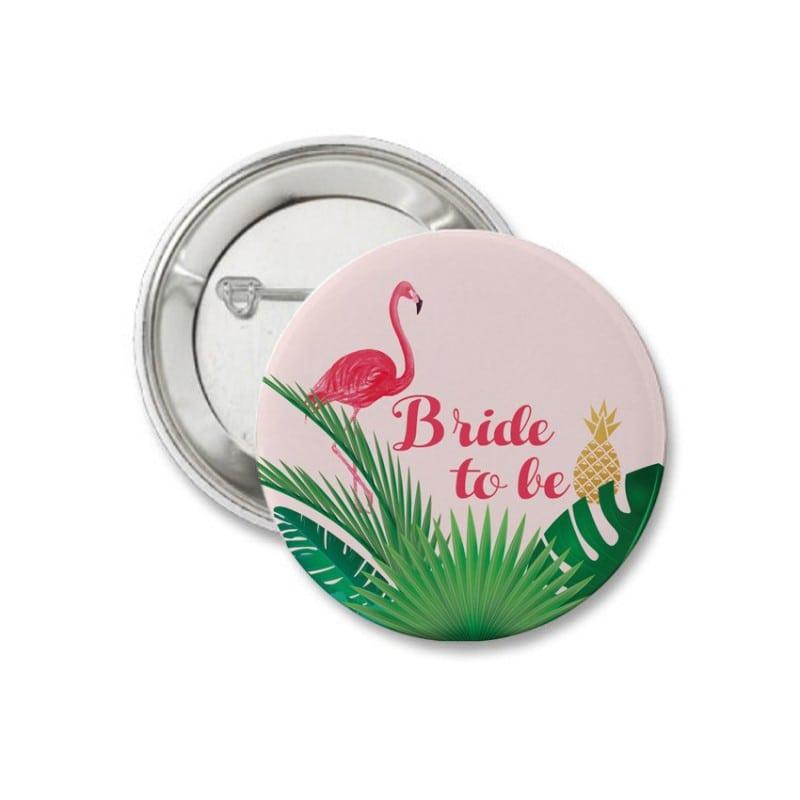 """Let's Flamingle"" Κονκάρδα για τη νύφη"