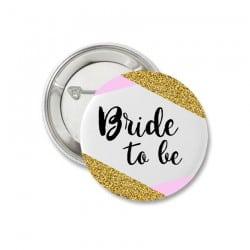"""Gold & Pink Bride"" Κονκάρδα"