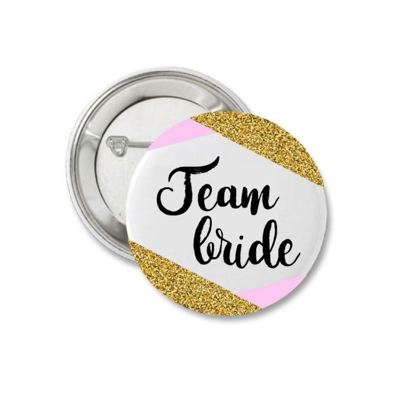 Gold & Pink Κονκάρδα για τις φίλες της νύφης
