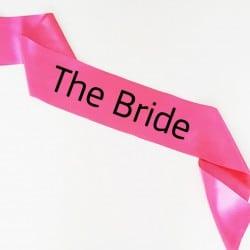 """The Bride-Simple"" Φούξια Bachelorette Κορδέλα Νύφης"
