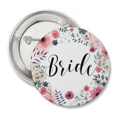 """Round Floral"" Κονκάρδα για τη νύφη"