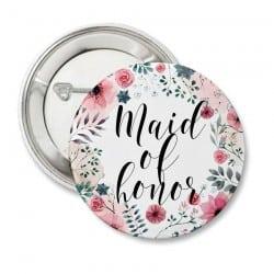 """Round Floral"" Κονκάρδα για την κουμπάρα"