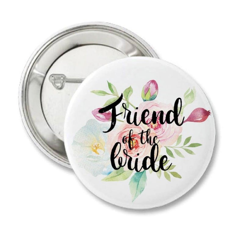 """""""Floral"""" Bachelorette Κονκάρδα για τις φίλες της νύφης"""