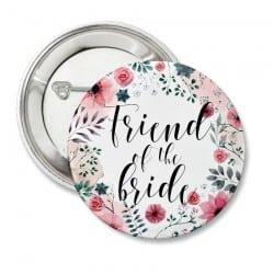 """Round Floral"" Bachelorette Κονκάρδα για τις φίλες της νύφης"