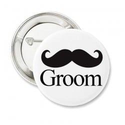 """Mustache"" Bachelor κονκάρδα για το γαμπρό"