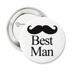 """Mustache Best Man"" Bachelor κονκάρδα για τον κουμπάρο"