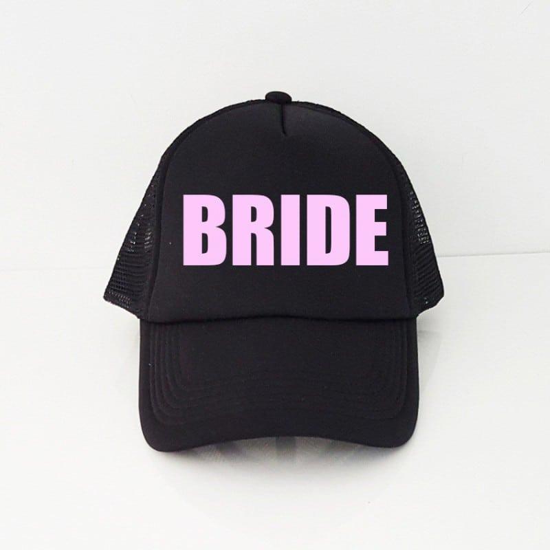 """Simple Bride"" Μαύρο jockey καπέλο νύφης"