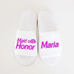 """Barbie Maid of honor"" Παντοφλάκια για την κουμπάρα"
